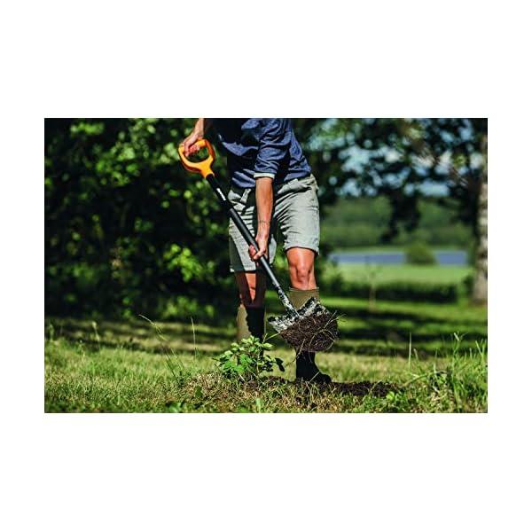 Fiskars Vanga a punta per terreni duri e sassosi, Lunghezza 117 cm, Acciaio/Plastica, Nero/Arancione, Solid, 1003455 4 spesavip