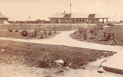 Railroad Real Photo Train (Real Photo Postcard Railroad Train Depot Station in Albany, Oregon~121542)