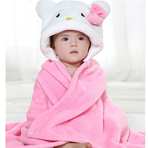 EVTECH (TM) Frühling Herbst Kid-Baby-Jungen Bademantel Handtuch-Umhang Ultra-weiches Flanell Babydecke geeignet für 0-2 Jahre alt