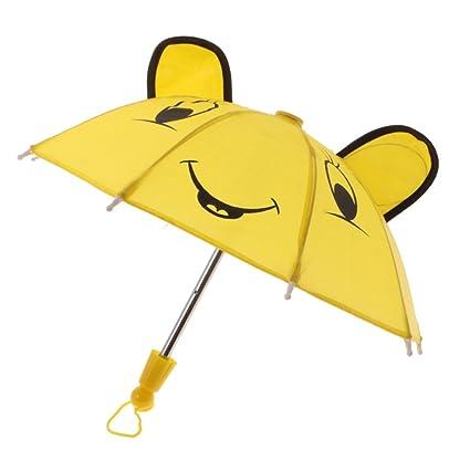 MagiDeal Paraguas Amarillo para 18 Pulgadas Accesorios Muñeca Americanos Muchacha