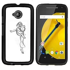 """Be-Star Único Patrón Plástico Duro Fundas Cover Cubre Hard Case Cover Para Motorola Moto E2 / E(2nd gen)( Artes Marciales Kung Fu combatiente de la muchacha Arte Dibujo"""" )"""