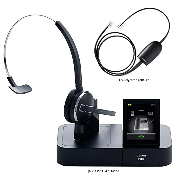 7a20c9cebbf Image Unavailable. Image not available for. Color: Jabra PRO 9470 Mono Midi  Boom Wireless Headset with 14201-17 Polycom ...