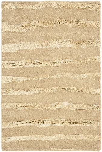 Safavieh Soho Collection SOH519B Handmade Beige and Gold Premium Wool Area Rug 2 x 3