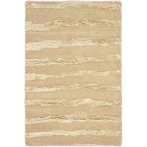 (Safavieh Soho Collection SOH519B Handmade Beige and Gold Premium Wool Area Rug (2' x 3'))