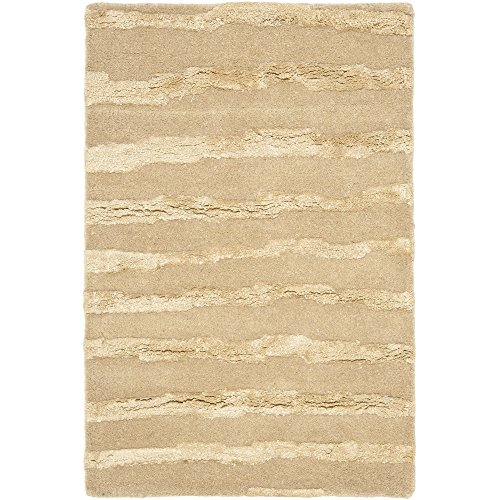 Safavieh Soho Collection SOH519B Handmade Beige and Gold Premium Wool Area Rug 2 x 3