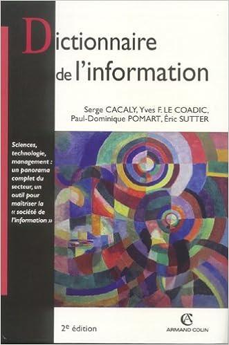 En ligne Dictionnaire de l'information pdf