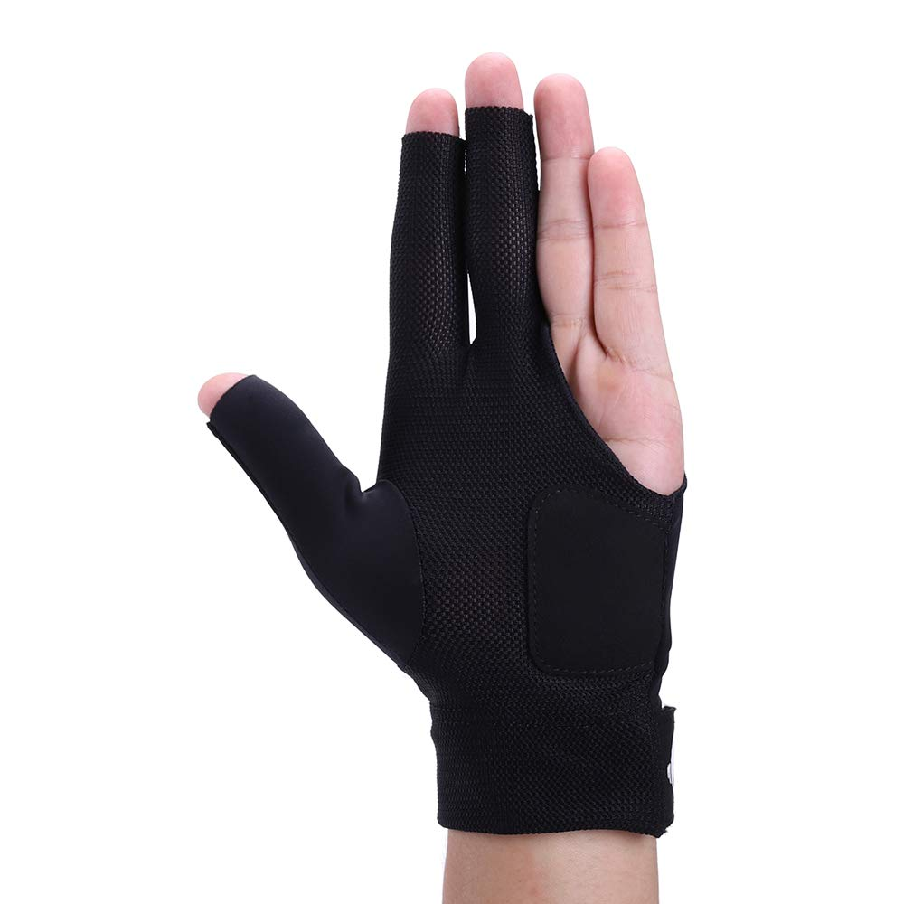 Roaming Quick-Dry Breathable Billiard Shooters Carom Pool Snooker Cue Sport Glove Fits on Left Hand
