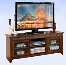 "Sunny Designs Santa Fe 62"" TV Stand in Dark Chocolate"