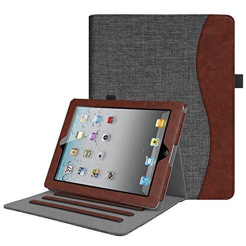 Fintie iPad 2/3/4 Case [Corner Protection] - [Multi-Angle Viewing] Folio Smart Stand Cover with Pocket, Auto Sleep / Wake for Apple iPad 2, iPad 3 & iPad 4th Gen with Retina Display, Denim Charcoal