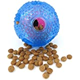 Durable Interactive Dog Cat Toy,Dog Puppy Chew IQ Treat Ball Toys Food Dispensing Toys for Boredom Small Medium Large Dogs Cats,Nontoxic Rubber Teeth Cleaning,IQ Training,Playing Pet Ball Food Feeder