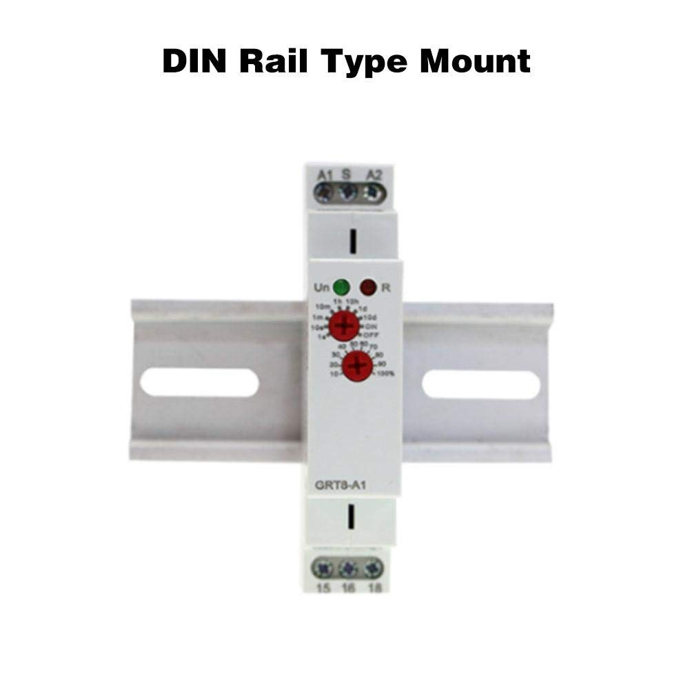 10 Days Delay Range 0.1s 10/% Accuracy AC//DC 12-240V 50-60Hz Time-Out delay Relay Mount on a 35mm DIN Rail Timer Relay