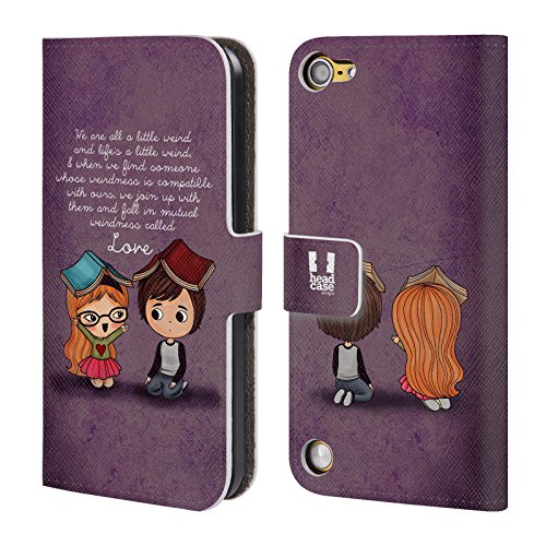 Head Case Designs Weirdness La Luce Dellamore Cover a portafoglio in pelle per iPod Touch 5th Gen / 6th Gen