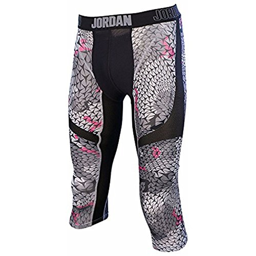 Jordan Mens Nike Pro Stay Cool Compression Tight Pants-Black/Gray