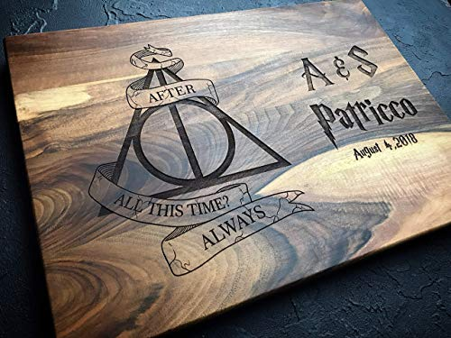 Always Harry Potter After all this time Custom Personalized Engraved Cutting Board Wedding Gift, Anniversary Housewarming Gift Birthday Snape harry01 (Harry Potter After All This Time Always)
