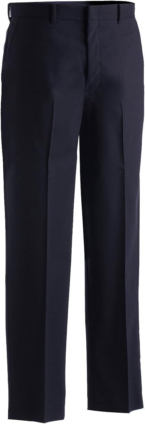 Edwards MenS Wool Blend Flat Front Dress Pant Navy 36