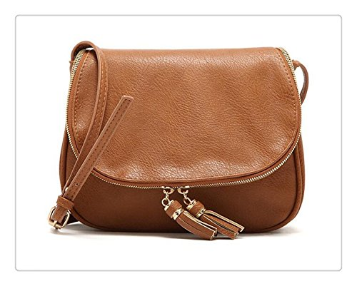 bbe378db1910 Amazon.com  Hot Sale Tassel Women Bag Leather Handbags Cross Body Shoulder  Bags Fashion Messenger Bag Women Handbag Bolsas Femininas  Handmade