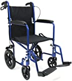 Expedition 12'' Rear Wheel Transport Chair by Drive Options - Seat Size: 19'' wide x 16'' deep Standard Color: Blue