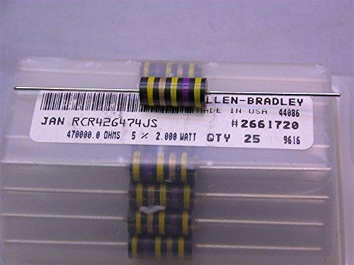 10 Mil-Spec Allen Bradley RCR42G474JS 470K 2W 5% Carbon Comp - 2w Resistors Carbon Comp