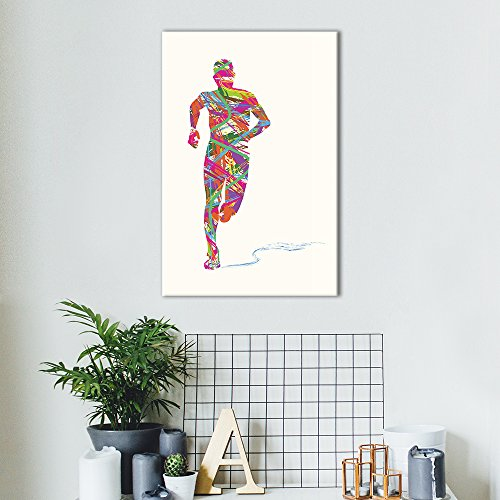 Sports Theme Abstract Colorful Running Man