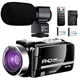 Best Hd Camcorder Under 200s - Video Camera Camcorder with Power Microphone, 1080P 30FPS Review