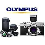 Olympus PEN-F (Silver) w/ Olympus Flash FL-LM3 + Olympus Portrait Lens Kit (M.Zuiko 75mm f1.8 and M.Zuiko 45mm f1.8 black lenses)