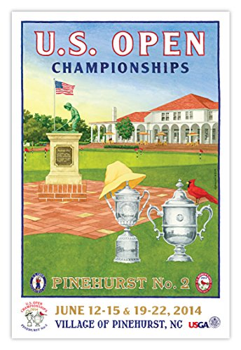 Signed 2014 U.S. Open Poster by Lee - Golf Sundial