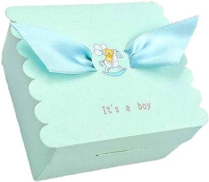 Lance Home 50Pcs Caja Pequeña para Caramelos Regalo Bombones Recuerdos Bautizos Bodas con Cinta para Boda Cumpleaños Fiesta Bienvenida Bebé Sagrada Comunión ala de Angel (Azul): Amazon.es: Juguetes y juegos