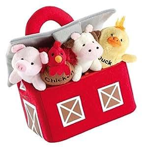 Amazon.com: Farm Carrier Plush Barn and Animals Kids Toys ...