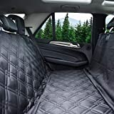 Bulldogology Premium Dog Car Seat Covers - Heavy Duty Durable Quality for Cars, Trucks, Vans, and SUVs (Large, Black)