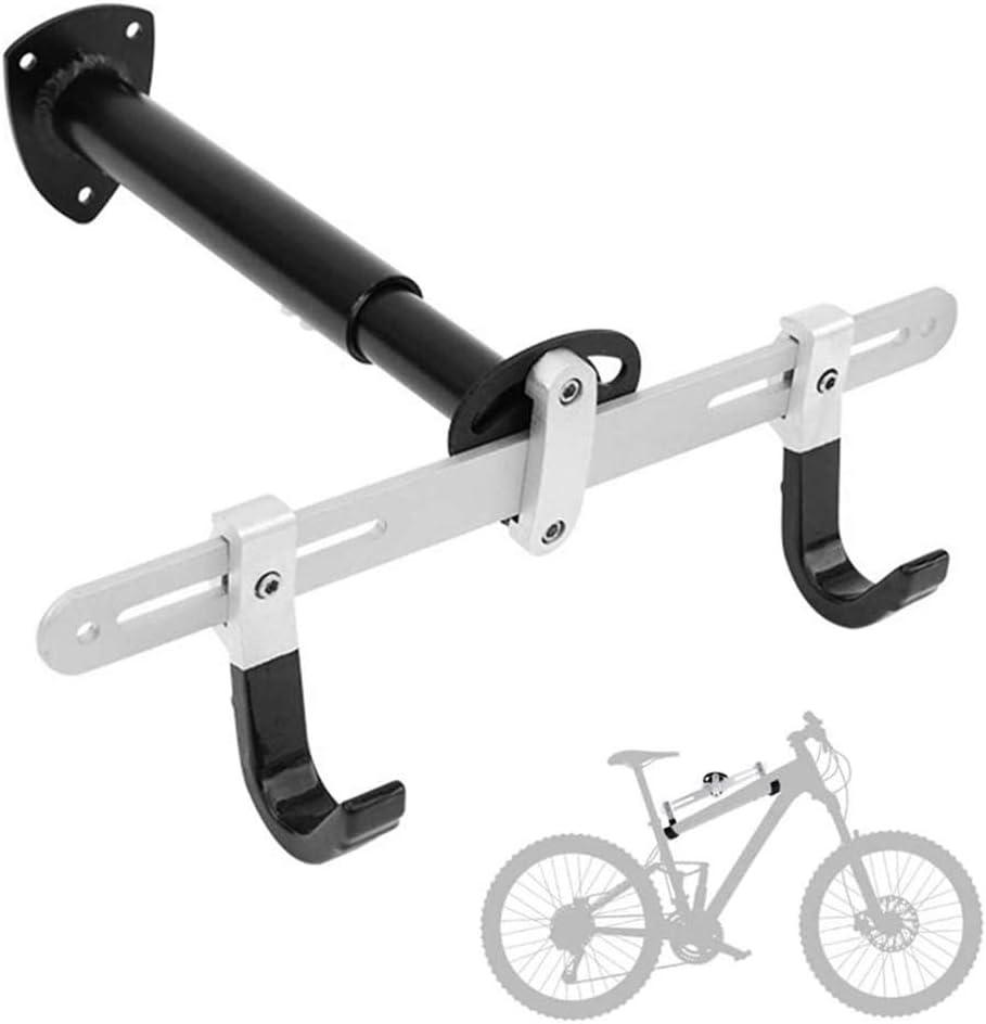CARACHOME Soporte Bicicletas Pared, Soporte para Bicicletas, Garaje, Sistema de Almacenamiento de suspensión para Bicicletas montado en la Pared, Gancho Vertical con función de Ajuste de tamaño