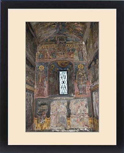 Framed Print of The interiour of the orthodox Princely Church with paintings, frescoes in by Fine Art Storehouse