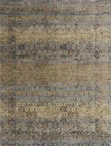 (Loloi   JV-03  Javari Collection  Distressed Modern  Area Rug Runner  2' x 12'  Grey / Hazel)