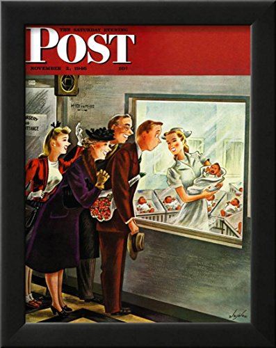 (OKSLO Maternity Ward, Saturday Evening Post Cover, November 2, 1946 Framed Giclee)