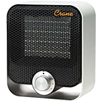 Crane Silver Ultra compact Personal Ceramic Heater