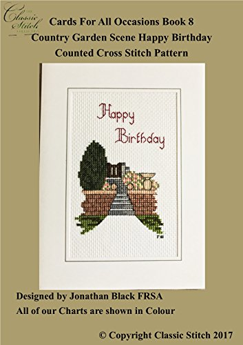 Amazon Country Garden Scene Happy Birthday Cards For All