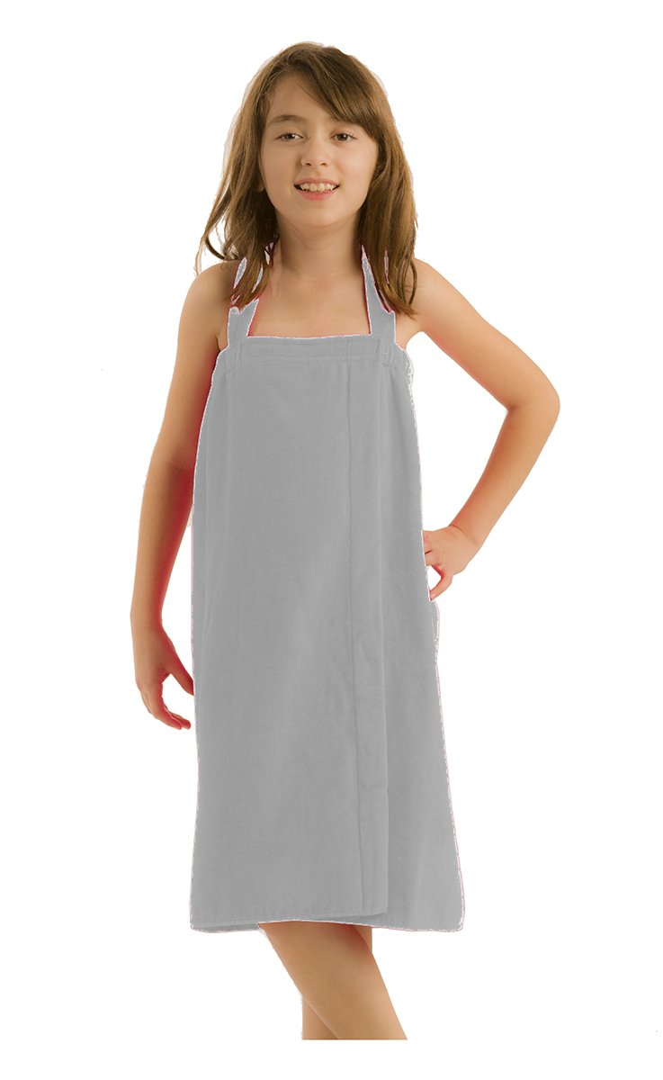 byLora Girls Spa Cover Up, Silver, Small