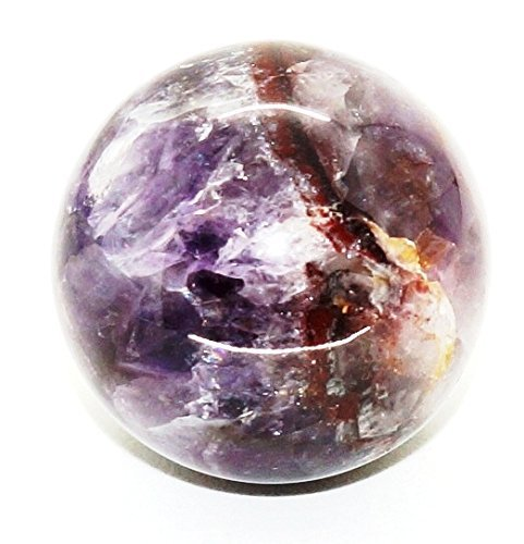 Stone Carved Sphere (Amethyst 35mm-45mm Natural Gemstone Sphere Hand Carved Stone Ball Metaphysical Crystals Healing Energy Charged Sphere Universal Energy Polished Stone Sphere (Without Stand) (Amethyst))
