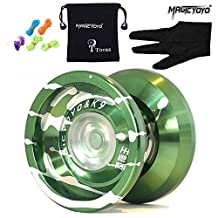 Original Magicyoyo K9 Top Refers to the King Unresponsive Yoyo Set, Alloy, Professional Toy, Green with Silver