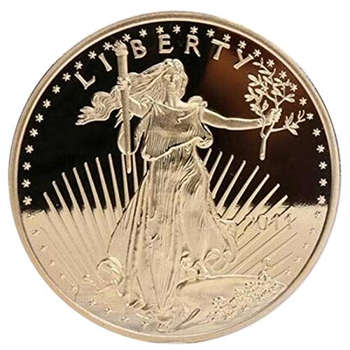 Non-currency Coins - 1 Pc The Non Magnetic Freedom 2011 Coin Liberty Gold Plated Badge Usa Eagle Souvenir - Usa Morgan Coin Coin Dollar Ring Tooth Silver Eagle Collecting American American Coin A (Price Of 1 Oz Gold American Eagle)