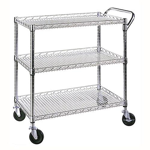 - Seville Classics 3-shelf UltraZinc Commercial Kitchen Island Portable Trolley Utility Cart