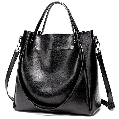 Spanning Bolsa Señoras Sesgar Negro Capacidad Black Bolso La Único Moda Minimalista De De GWQGZ Hombro Gran qF7Og7