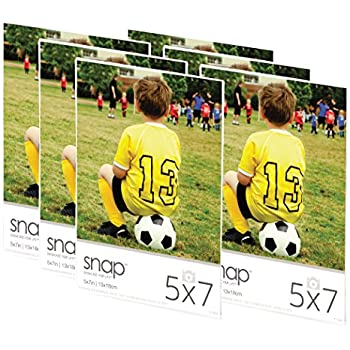 Snap 07FP886C Magnetic Acrylic Frame (Set of 6), 5 x 7, Clear