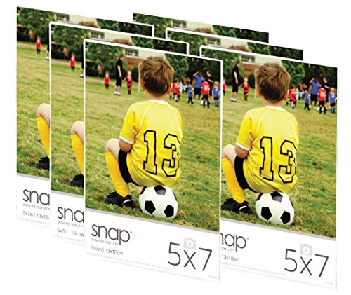 Snap 07FP886C Magnetic Acrylic Frame (Set of 6), 5 x 7
