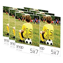 Snap 07FP886C Magnetic Acrylic Frame (Set of 6), 5x7-Inch, Clear