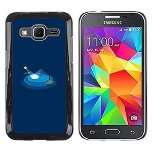 Caucho caso de Shell duro de la cubierta de accesorios de protección BY RAYDREAMMM - Samsung Galaxy Core Prime SM-G360 - Minimalist Polygon Art Submarine