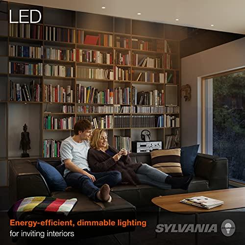 SYLVANIA LED Flood R20 Light Bulb, 50W Equivalent Efficient 5W, 10 Year, 325 Lumens, E26 Medium Base, Dimmable, 2700K, Soft White - 2 Pack (73993)