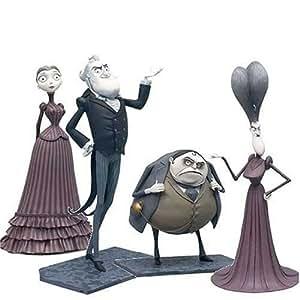 Corpse Bride Mini Figure Collector Set Land of Living Boxed Set #2 Victoria, Mr. & Mrs. Everglot, Barkus Bittern