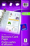 "Avery Business Card Pages,  5-1/2"" x 8-1/2"" , Clear, 5 Sheets (76025)"
