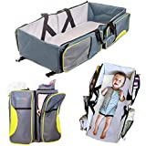 Ultimate Portable Bassinet- 3 in 1 Diaper Bag, Travel Bed, & Portable Changing Station With Bonus Bed Sheet & Stroller Attachment, Perfect Baby Travel System Accessory For Girls & Boys