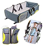Travel Portable Bassinet- 3 in 1 Diaper Bag, Travel Crib, & Portable Changing Station With Bonus Bed Sheet & Stroller Attachment,Perfect Baby Travel Accessory & Travel Baby Bed For Girls & Boys